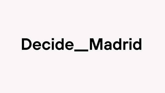 Ay. Madrid – Decide Madrid